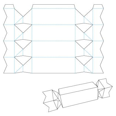 Как сделать коробку из бумаги для конфет