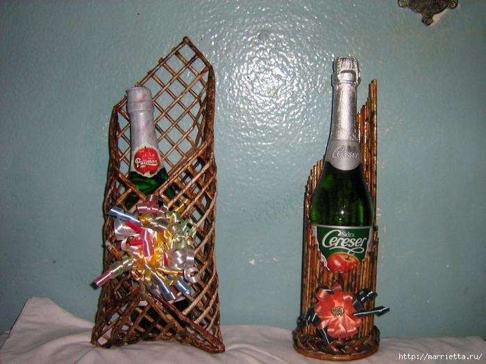 Как сделать своими руками подставку под бутылки