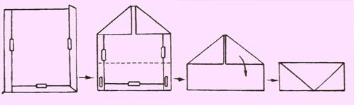 Как сделать конверт из бумаги без ножниц