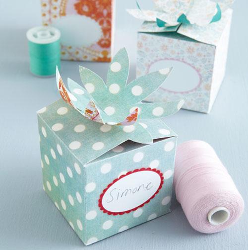 Схемы подарочных коробочек