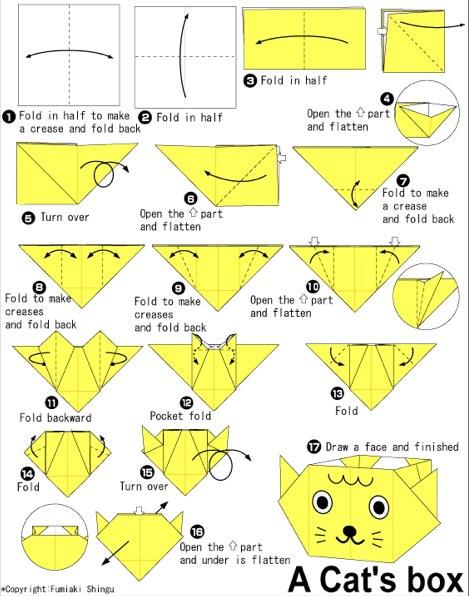 Origami Cat_s Box