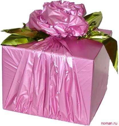 заязать бант для подарка