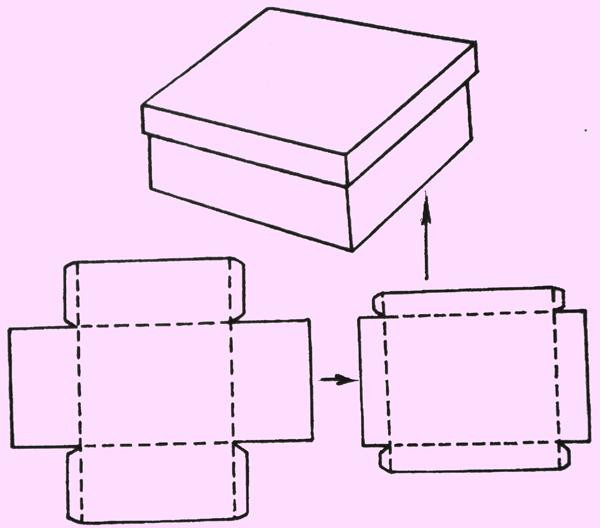 Схема как сделать коробочку из картона
