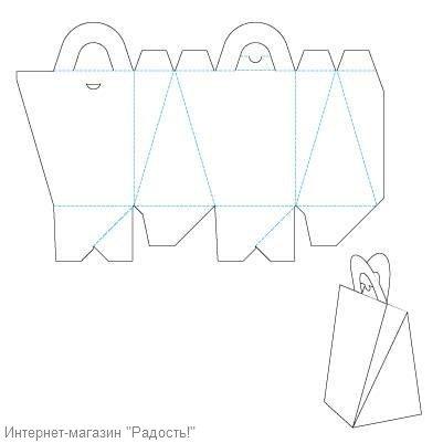 Как сделать подарочную сумку из бумаги своими руками