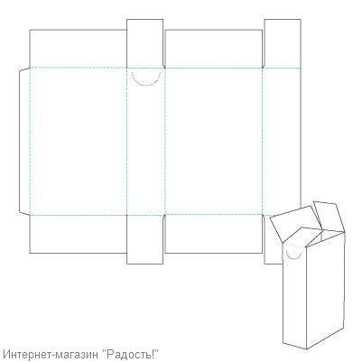 высокая коробка - схема, для