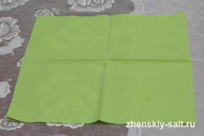 Бумажные салфетки на стол своими руками