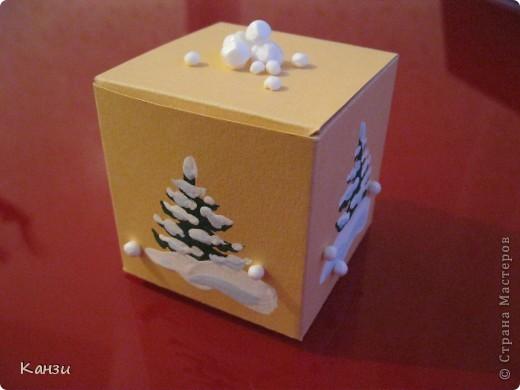 Как сделать новогодние коробки своими руками фото