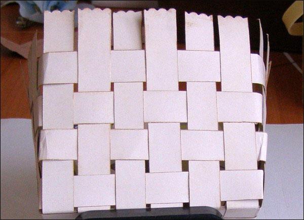 Как сделать корзинка из бумаги своими руками видео