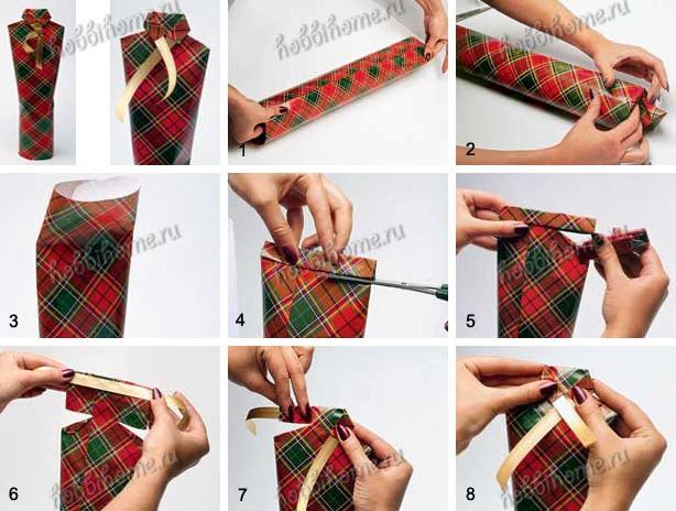 Как запечать бутылку в подарок