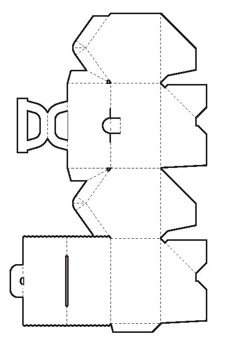 Домик из картона схемы для кукол