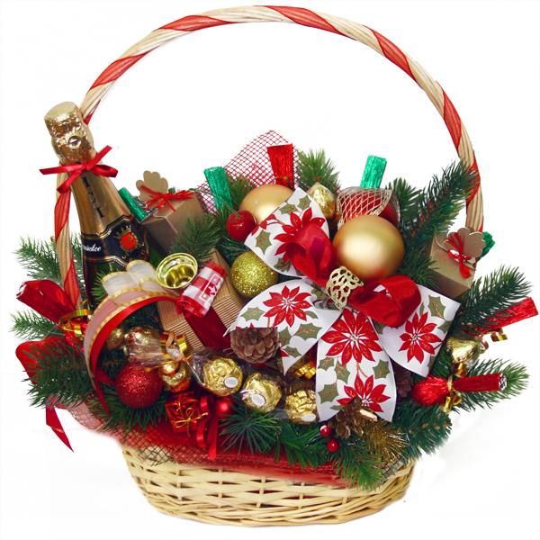 Своими руками новогодние корзины из конфет