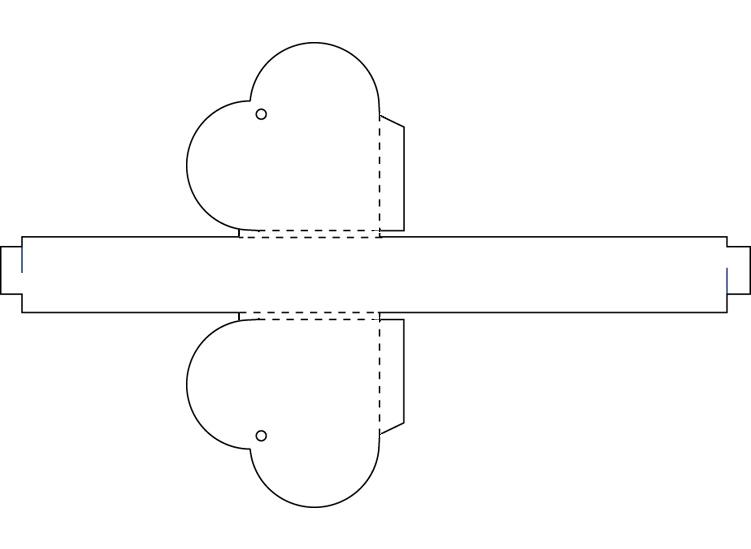Коробочка в форме сердца своими руками