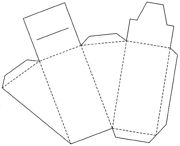 Коробочки для подарков треугольные 12