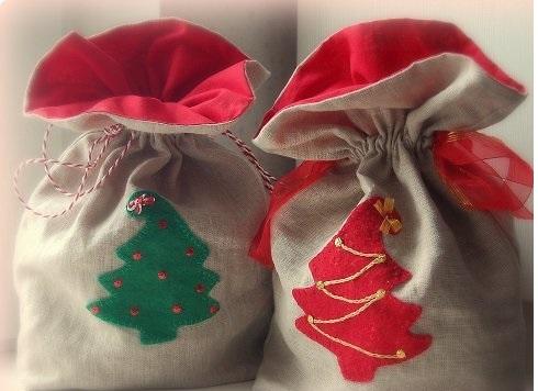 Новогодние подарки из ткани