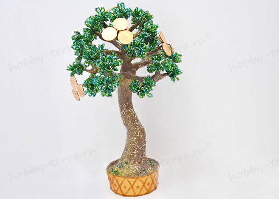 Как сделать денежное дерево из