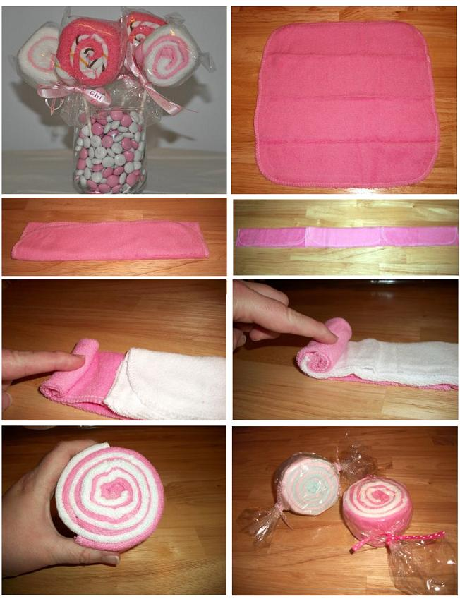 Как свернуть полотенце в подарок 33