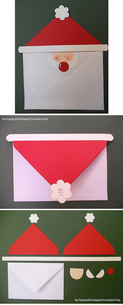 Как сделать конверт для нового года своими руками