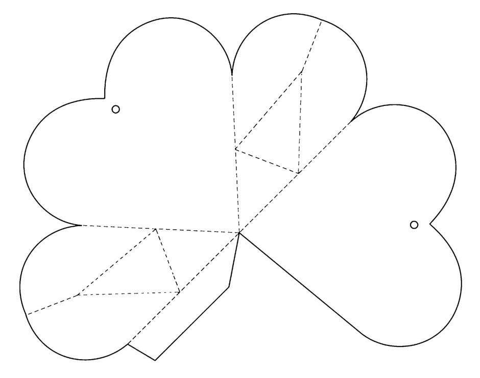 Как сделать подарочную коробку в виде сердца своими руками