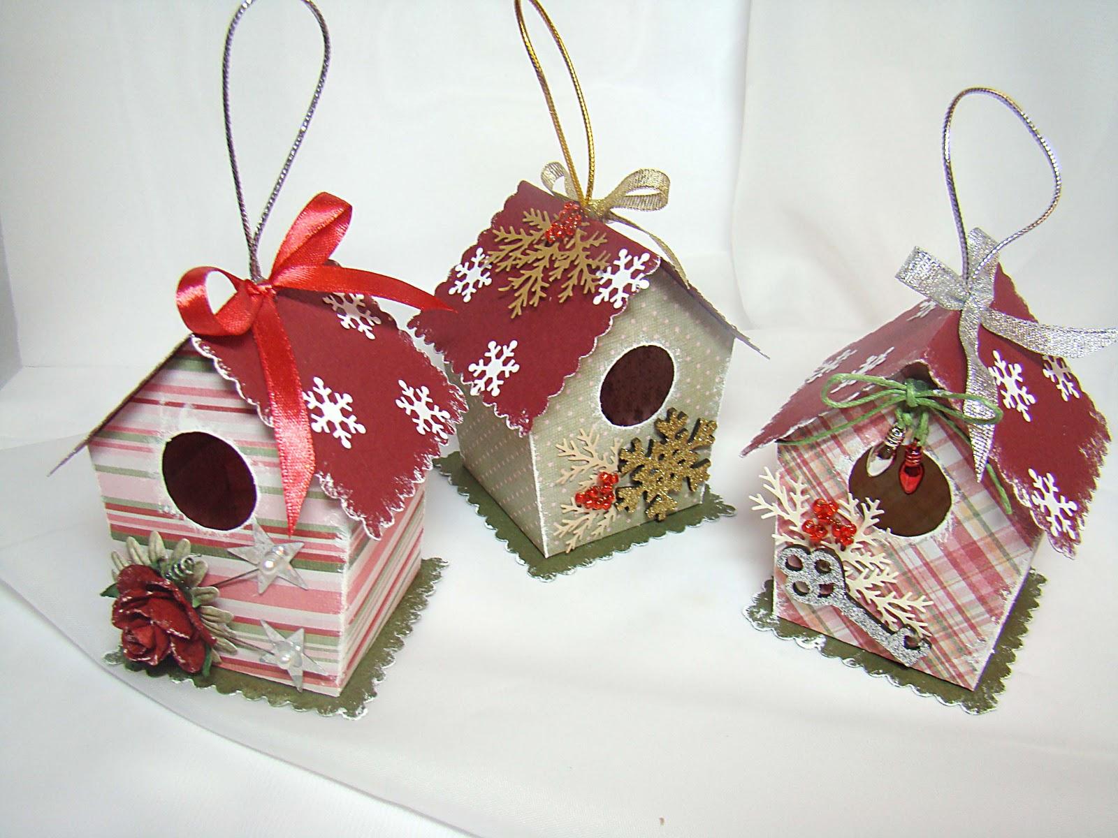 Новогодние игрушки своими руками домики