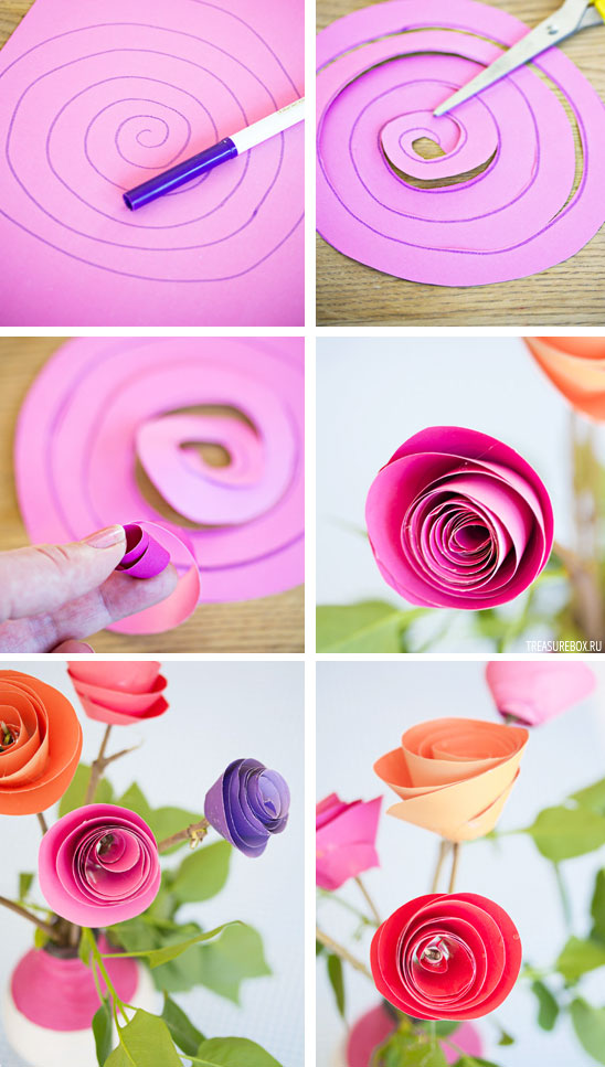 Как сделать цветы из бумаги простым способом