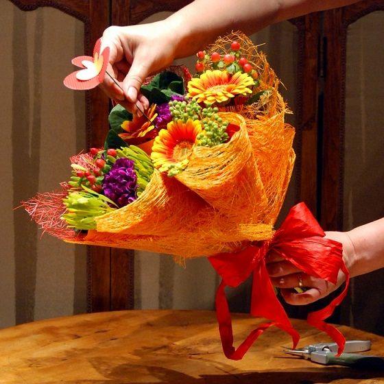 Красивые букеты из цветов своими руками