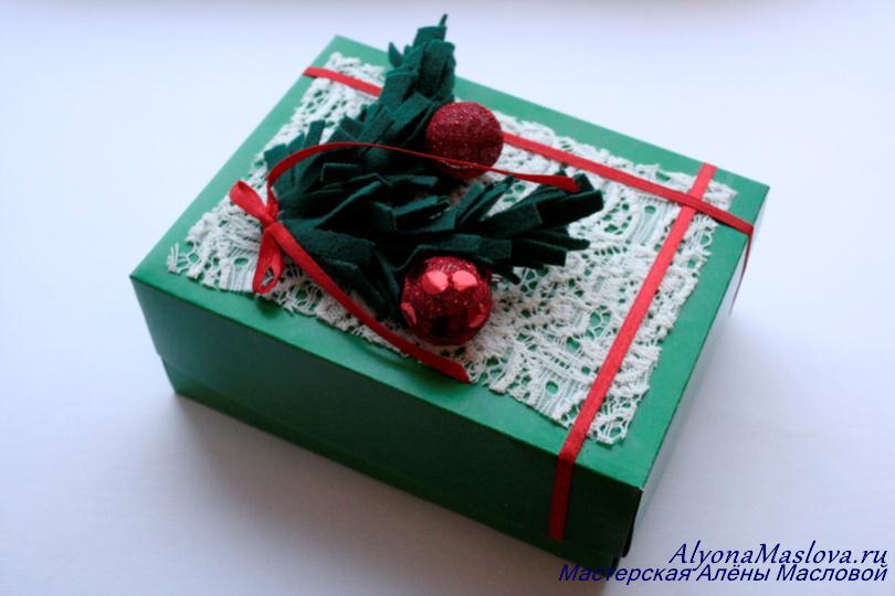 Украшение подарков своими руками коробка 84