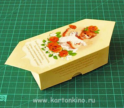 Как из картона сделать большую конфету