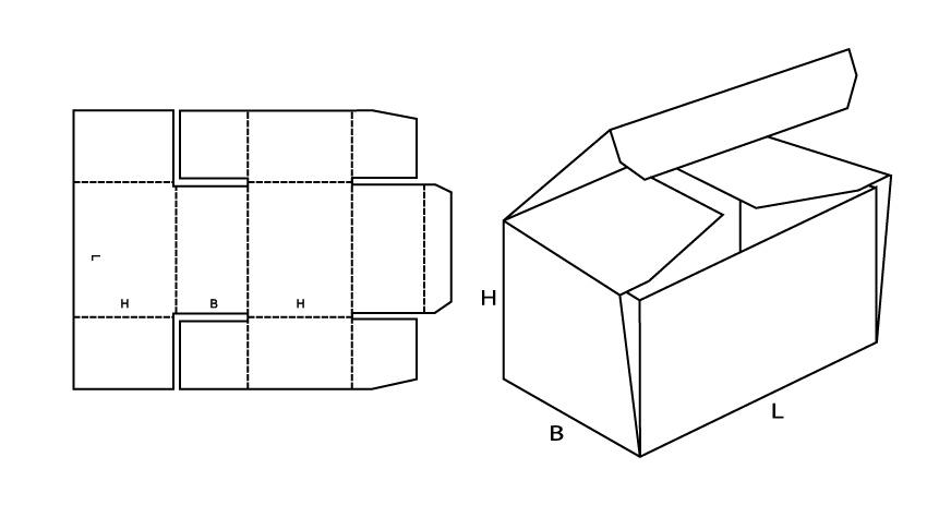 0443 коробка складная